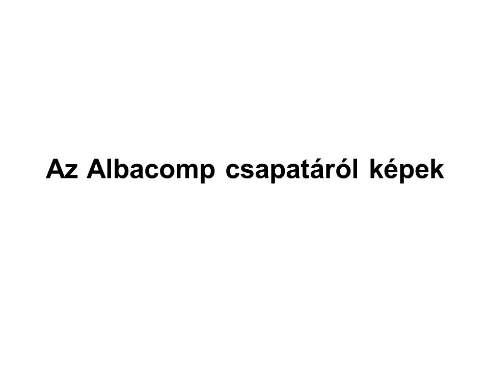 Az Albacomp csapatáról képek