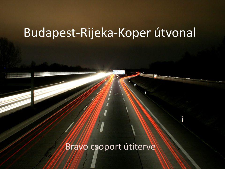 Budapest-Rijeka-Koper útvonal Bravo csoport útiterve