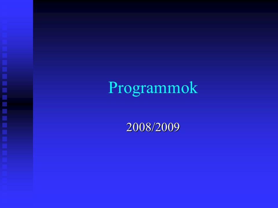Programmok 2008/2009