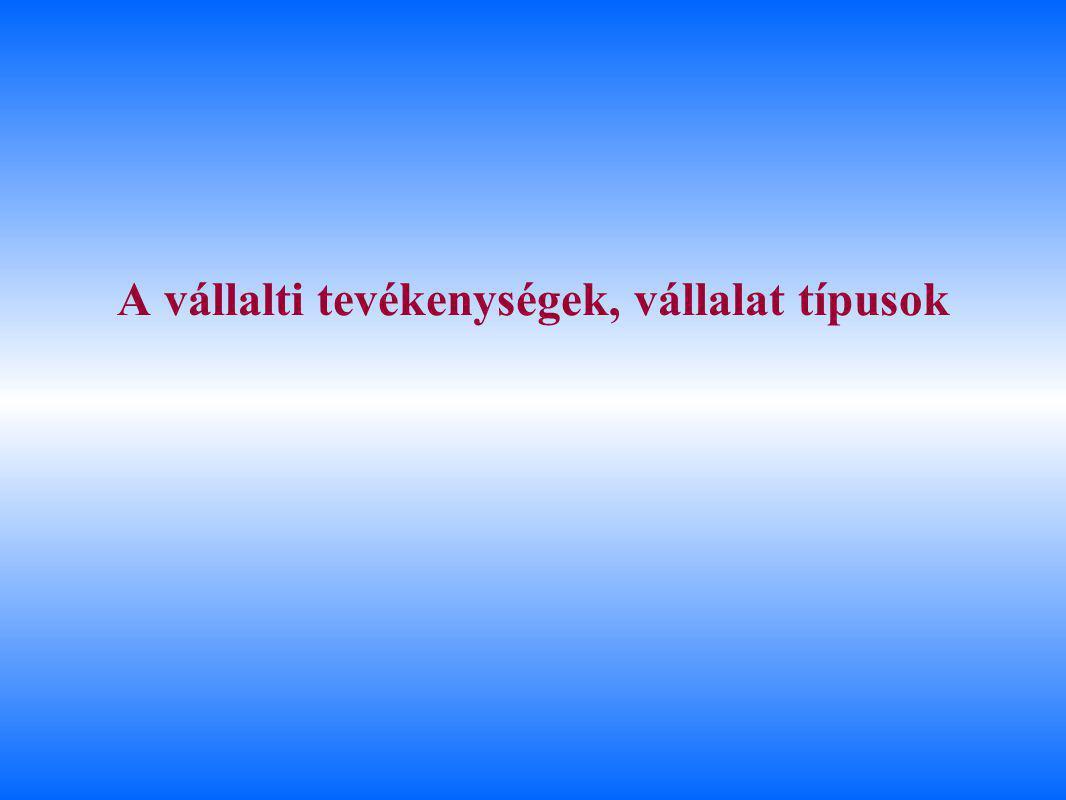 A vállalati működés belső érintettjei ÉrintettekTípusaikArchetípusok /1 CéljaikAlapérdekeik Belső érintettek TulajdonosokTermészetes személyek Egyetlen tulajdonosBefektetett tőkéje értékét kívánja növelni a profittal A vállalkozás értékének növelése /2 Tőzsdén jegyzett vállalatRészvényárfolyam, vagy osztalék nyereség /2 Intézményi tulajdonosok Bankok és más pénzintézetek (pl.