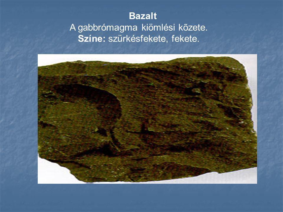 Andezit A diorit magma kiömlési kõzete.Nevét az Andok hg-rõl kapta.