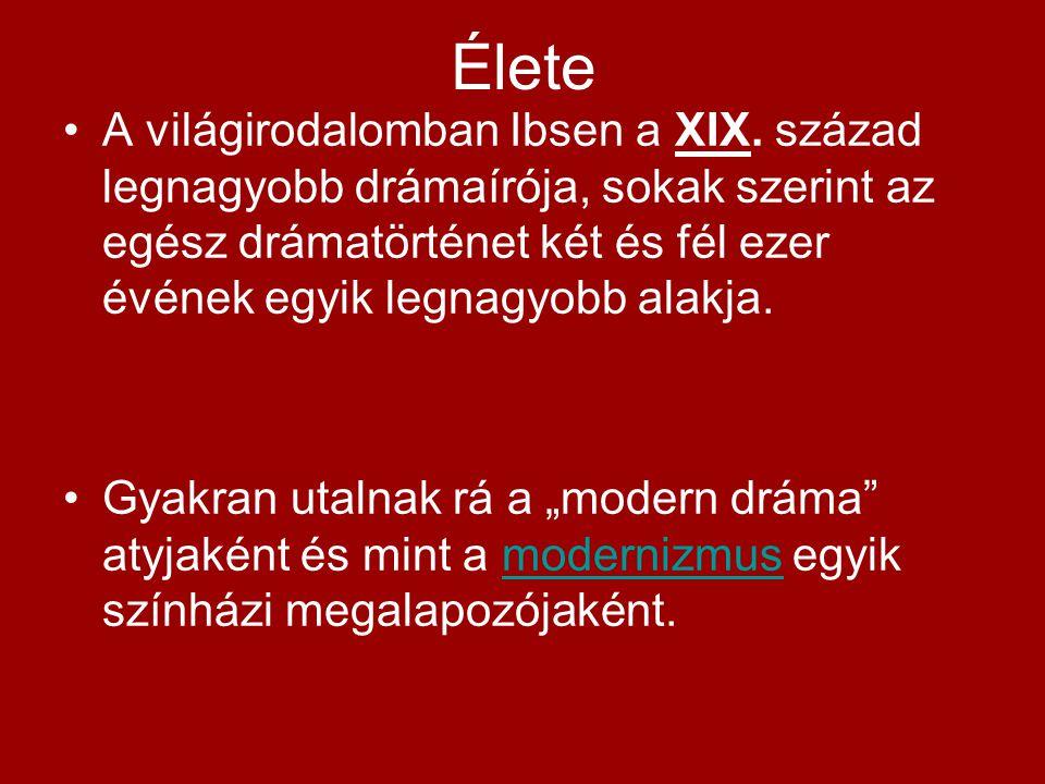 Élete A világirodalomban Ibsen a XIX.