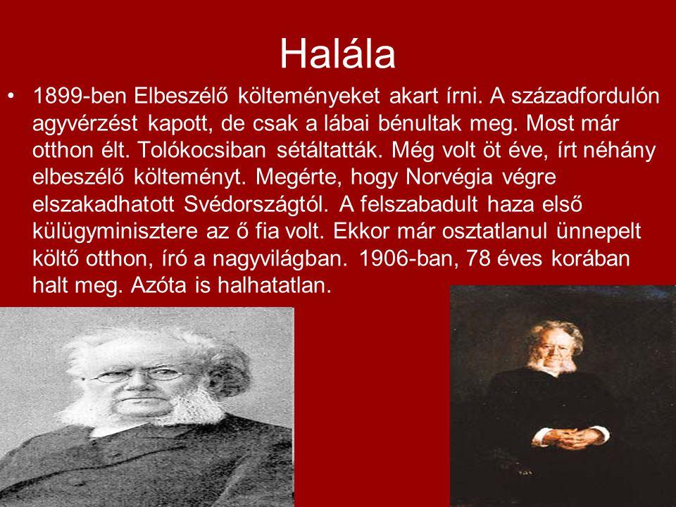 Halála 1899-ben Elbeszélő költeményeket akart írni.