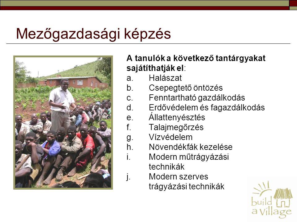 A tanulók a következő tantárgyakat sajátíthatják el: a.Halászat b.Csepegtető öntözés c.Fenntartható gazdálkodás d.Erdővédelem és fagazdálkodás e.Állat