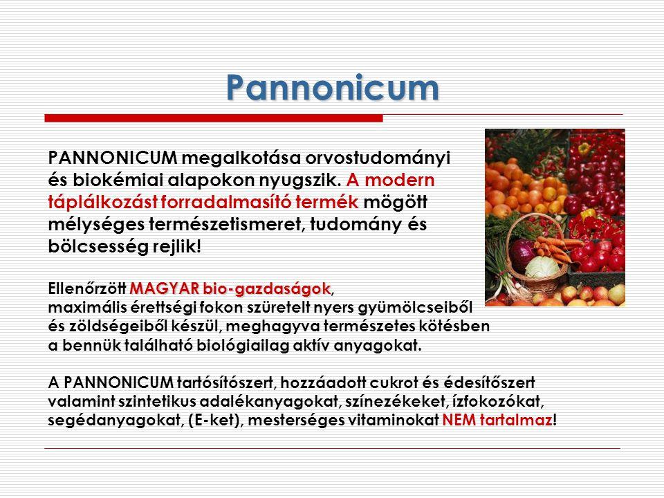 Pannonicum PANNONICUM megalkotása orvostudományi és biokémiai alapokon nyugszik. A modern táplálkozást forradalmasító termék mögött mélységes természe