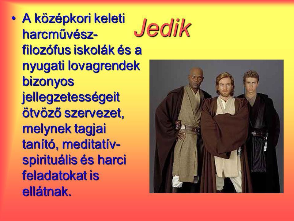 Jedik A középkori keleti harcművész- filozófus iskolák és a nyugati lovagrendek bizonyos jellegzetességeit ötvöző szervezet, melynek tagjai tanító, me