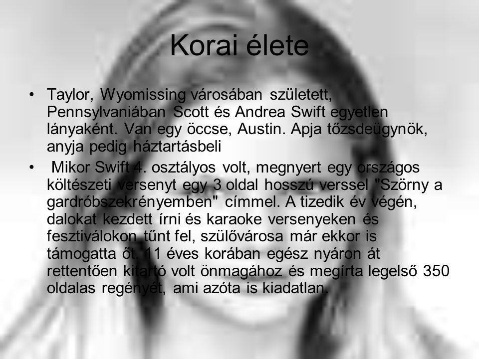 Korai élete Taylor, Wyomissing városában született, Pennsylvaniában Scott és Andrea Swift egyetlen lányaként.