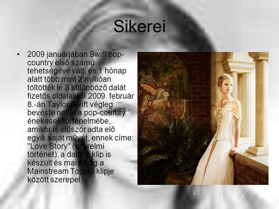 Sikerei 2009 januárjában Swift pop- country első számú tehetségévé vált, és 1 hónap alatt több mint 2 millióan töltötték le 3 különböző dalát fizetős oldalakról.2009.