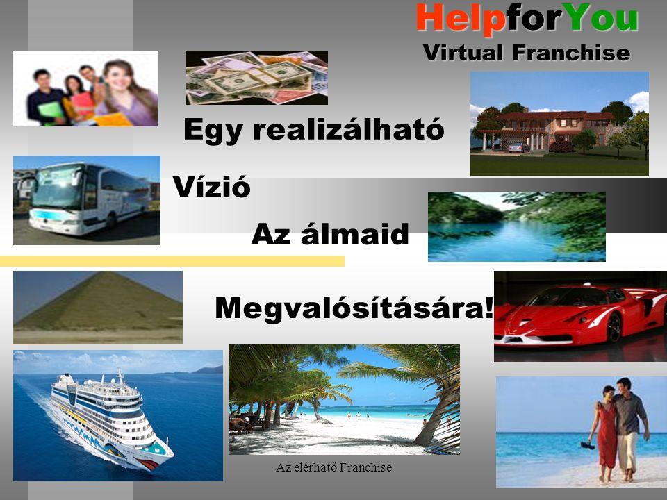Az elérhatő Franchise HelpforYou Virtual Franchise Egy realizálható Az álmaid Megvalósítására! Vízió