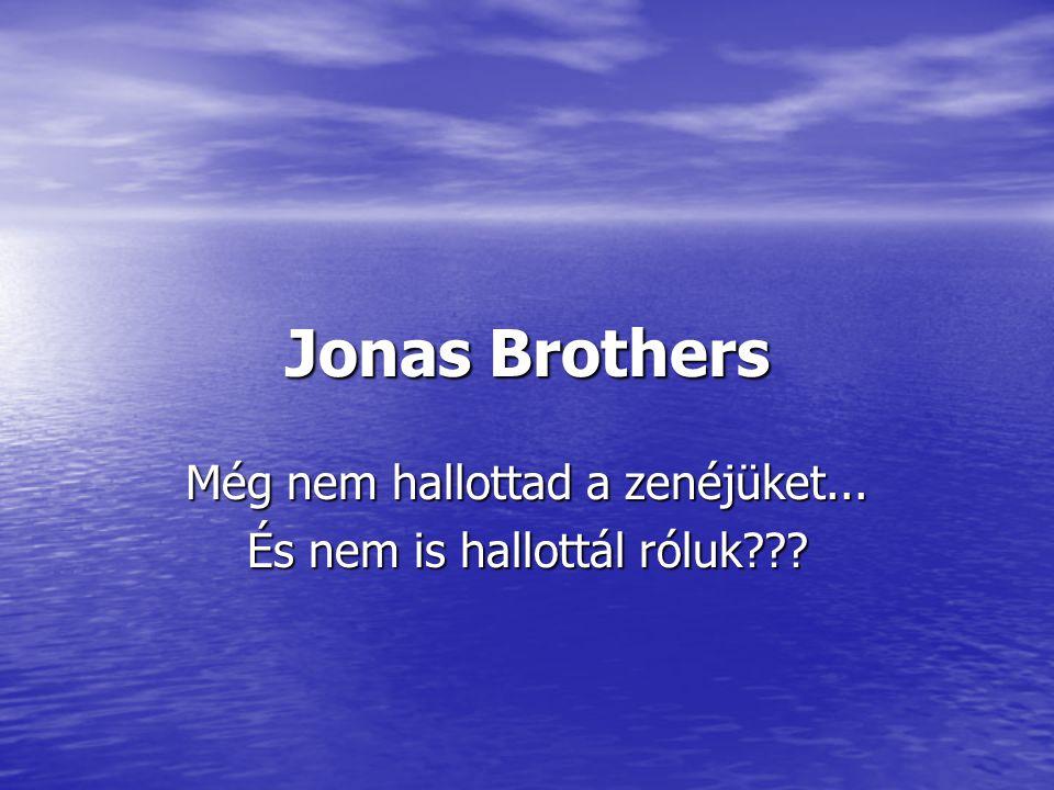Jonas Brothers Még nem hallottad a zenéjüket... És nem is hallottál róluk