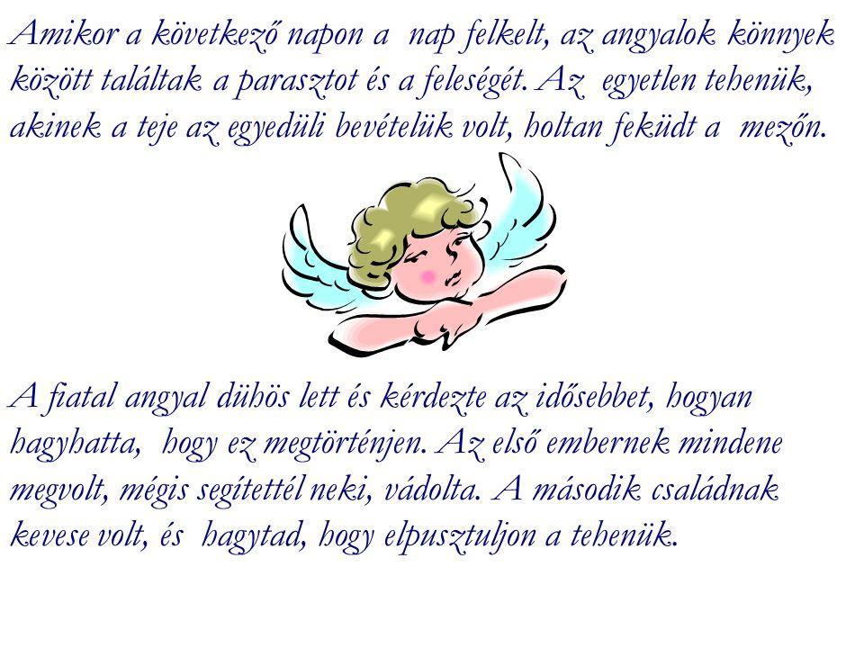 A dolgok nem mindig azok, aminek látszanak, mondta ismét az idősebb angyal.