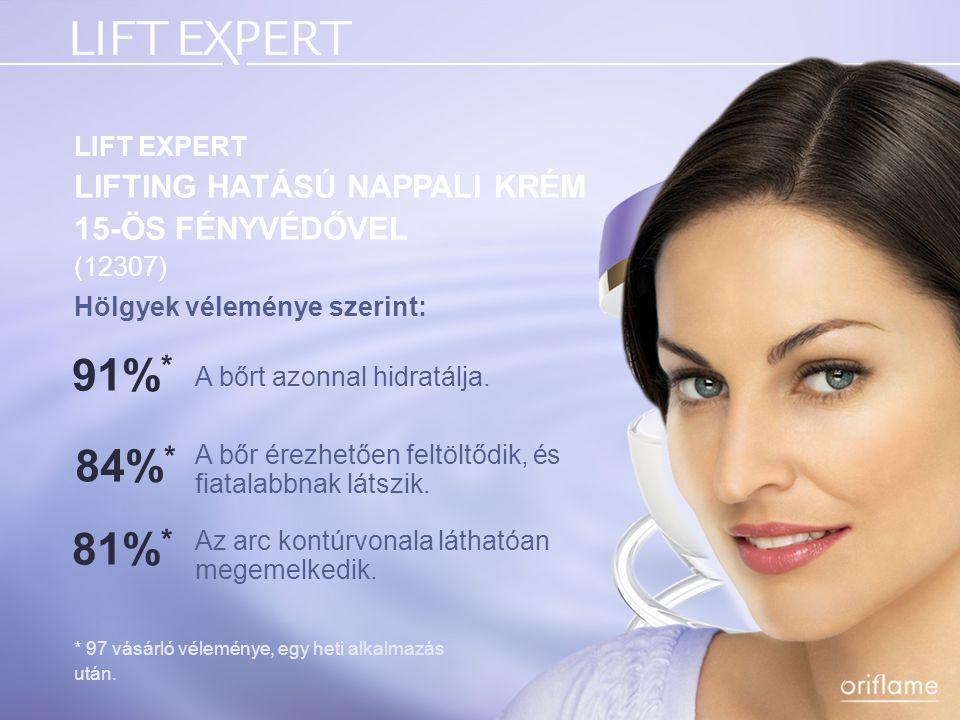 Hölgyek véleménye szerint: * 97 vásárló véleménye, egy heti alkalmazás után. LIFT EXPERT LIFTING HATÁSÚ NAPPALI KRÉM 15-ÖS FÉNYVÉDŐVEL (12307) A bőrt