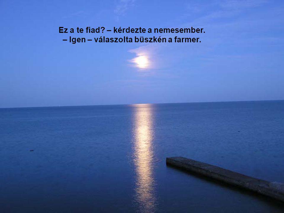 Ez a te fiad – kérdezte a nemesember. – Igen – válaszolta büszkén a farmer.