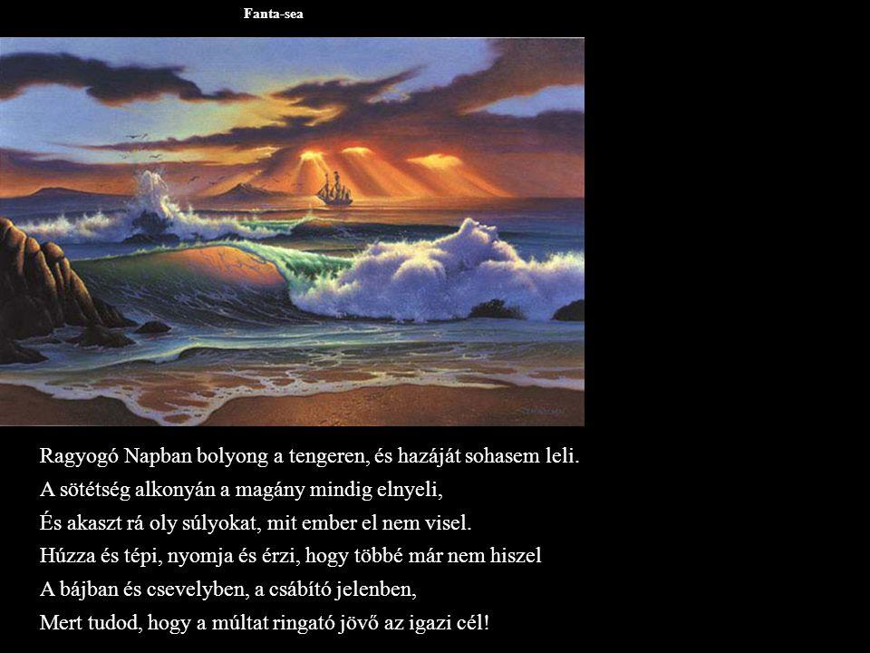 Fanta-sea Ragyogó Napban bolyong a tengeren, és hazáját sohasem leli.