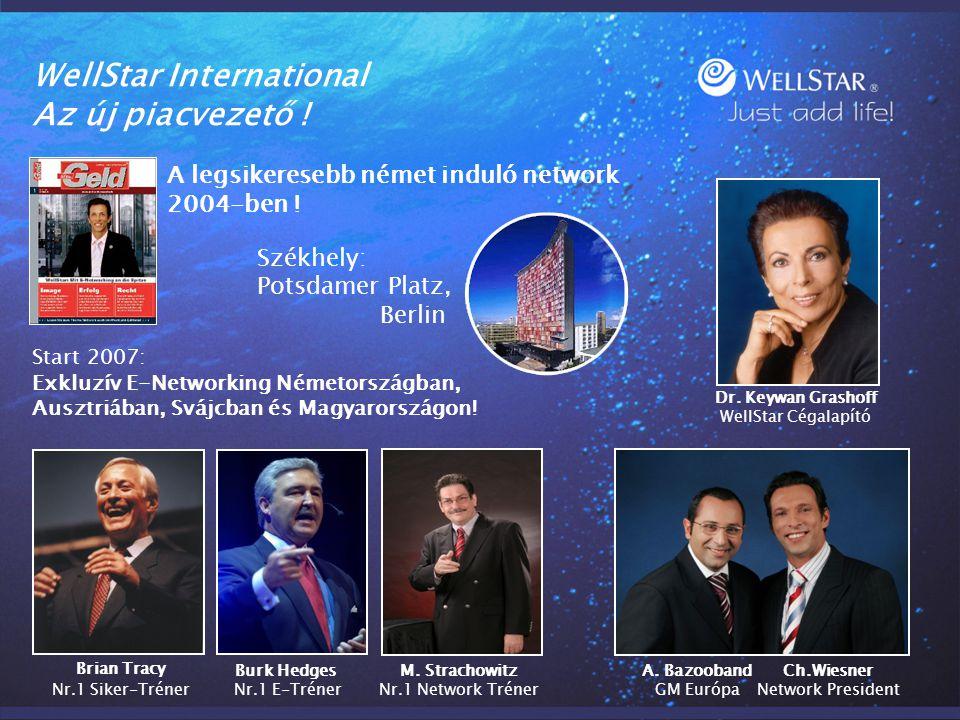 WellStar International Az új piacvezető ! Brian Tracy Nr.1 Siker-Tréner M. Strachowitz Nr.1 Network Tréner Burk Hedges Nr.1 E-Tréner Dr. Keywan Grasho