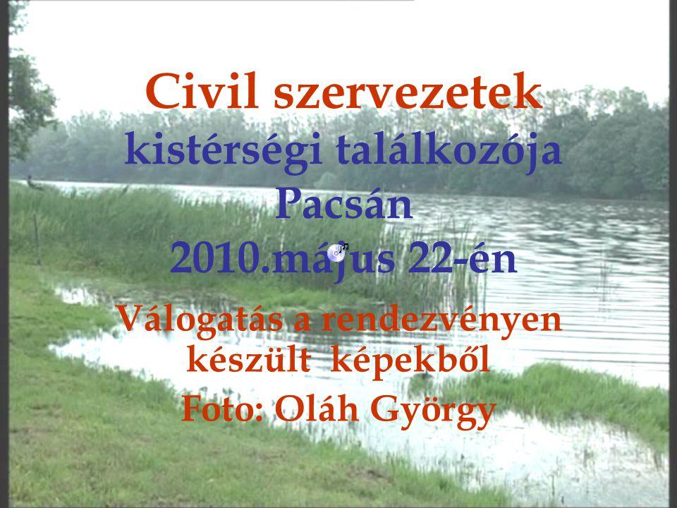 Civil szervezetek kistérségi találkozója Pacsán 2010.május 22-én Válogatás a rendezvényen készült képekből Foto: Oláh György