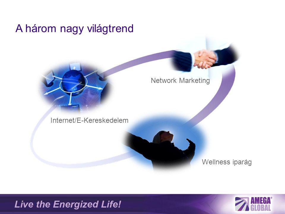A három nagy világtrend Internet/E-Kereskedelem Wellness iparág Network Marketing