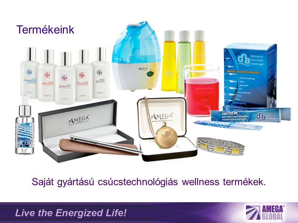 Saját gyártású csúcstechnológiás wellness termékek. Termékeink