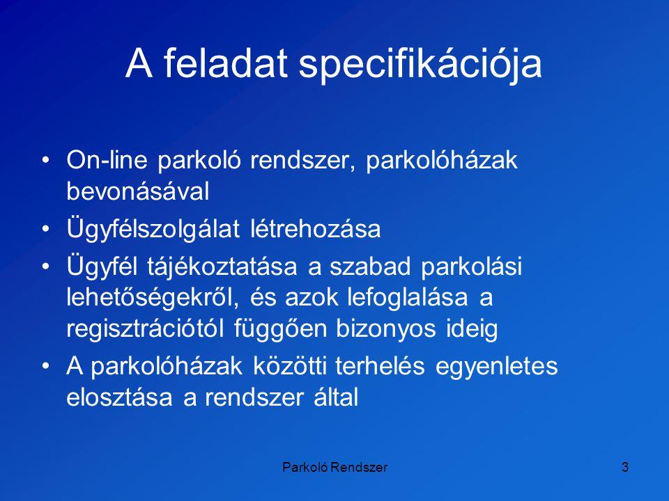 Parkoló Rendszer24 Köszönjük A prezentáció megtekinthető: http://people.inf.elte.hu/butosi/jogiinf/Park.ppt
