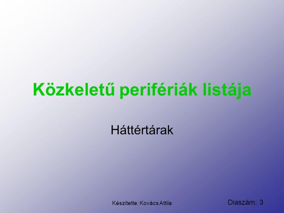 Diaszám: 4 Készítette: Kovács Attila Cserélhető (Hordozható médiára ír/olvas) CD Méreteit tekintve a CD általában 120 mm átmérőjű, és 1,2 mm vastag.