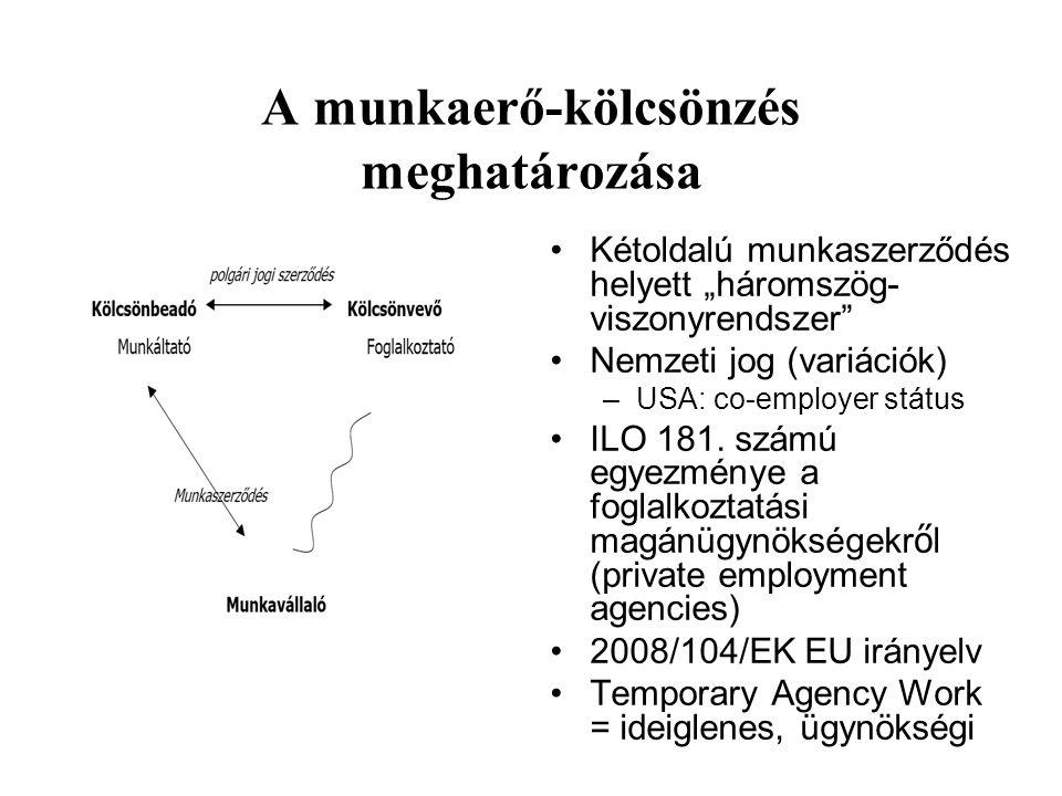 """Szociális párbeszéd 2005: Ágazati párbeszéd bizottságok a korlátozásért (kohászat, vendéglátóipar, vegyipar) 2005: Sikeres lobbi szervezet (SZTMSZ) 2008: Konzultációk az új direktíváról az OÉT-ben """"Saját jogán nem elismert ágazat, nincs ÁPB se –Az új direktíva átvétele esetleg létrehozza… –Európai képviseletnek nincs visszahatása Szakszervezetek: a kölcsönbevevő munkavállalóit képviselik (munkáskonkurencia?) Saját tagság nélkül nem megy… Kihívás: EU direktív a átvétele."""