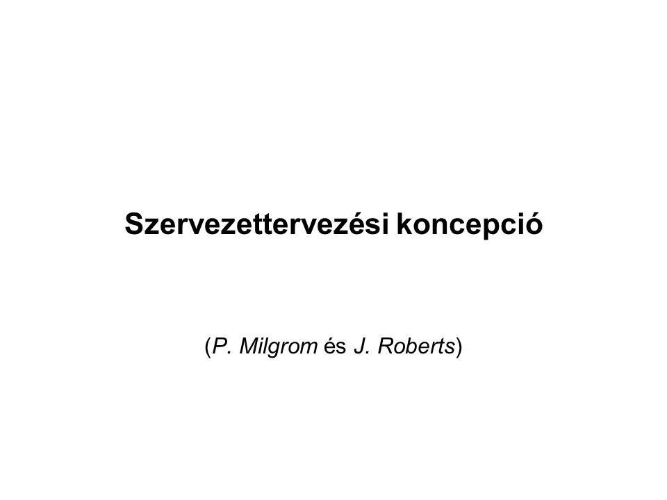 Szervezettervezési koncepció (P. Milgrom és J. Roberts)
