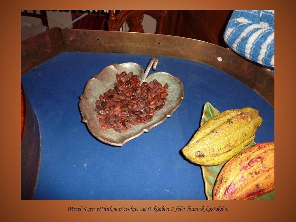Majd egy filmvetítés és bemutató a kakaó eredetéről, a csokigyártásról. (A film elég retró, viszont valószínűleg nem kellett érte jogdíjat fizetni…)