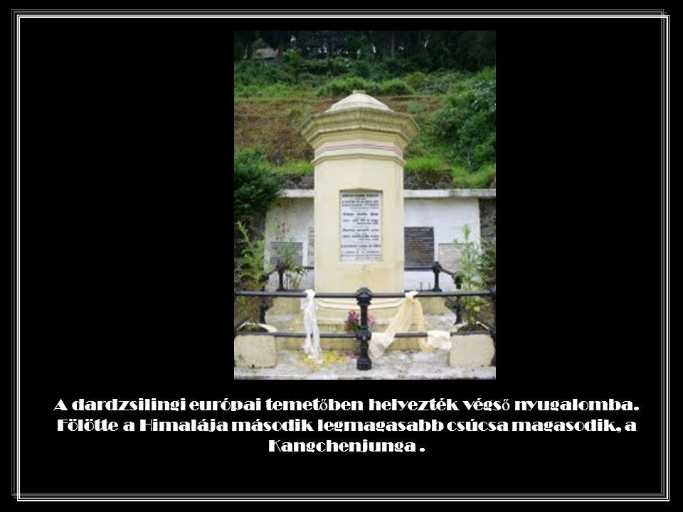 1842. márc 24-én érkezett meg betegen Dardzsilingbe.