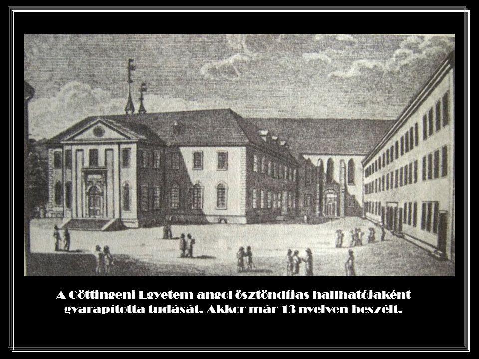 A Göttingeni Egyetem angol ösztöndíjas hallhatójaként gyarapította tudását.