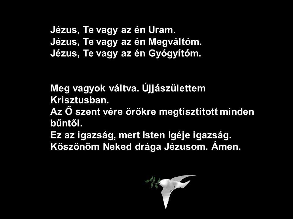 IMA AZ ÜDVÖSSÉGÉRT Hiszem, hogy Jézus Istennek Fia. Hiszem, hogy Jézus meghalt az én bűneimért, a Biblia tanítása szerint. Hiszem, hogy Jézus feltámad