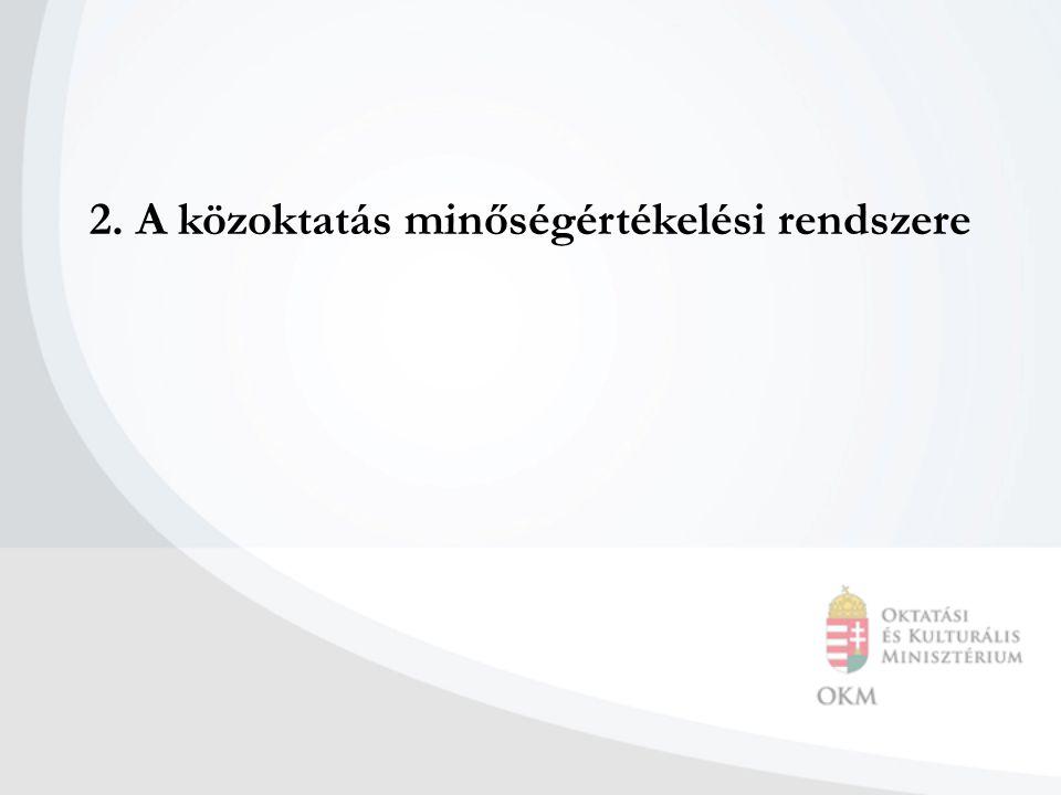 2. A közoktatás minőségértékelési rendszere