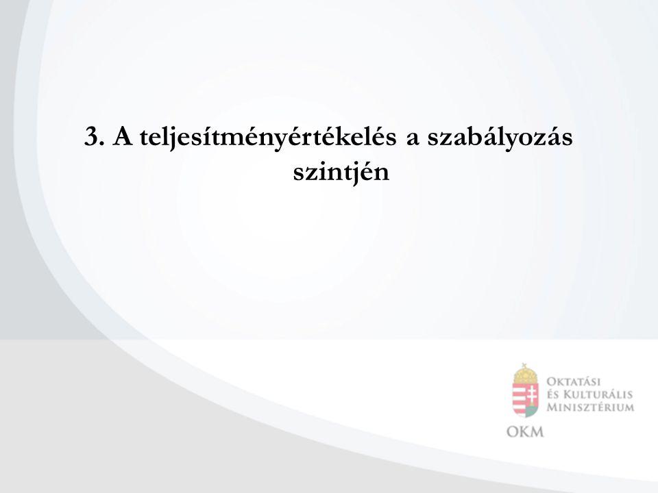 3. A teljesítményértékelés a szabályozás szintjén