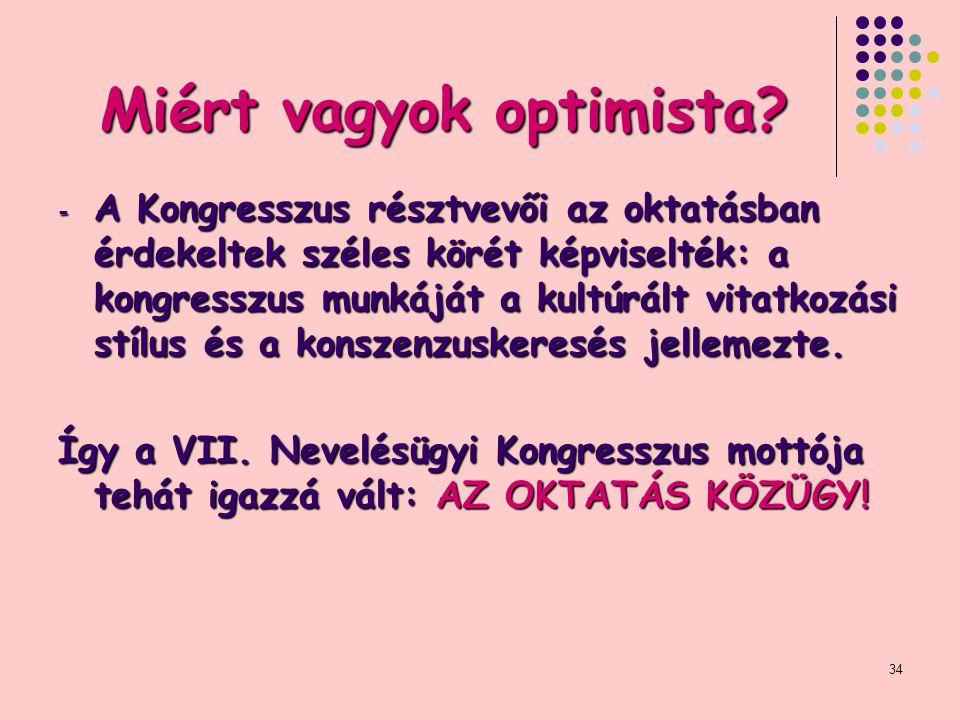 34 Miért vagyok optimista.