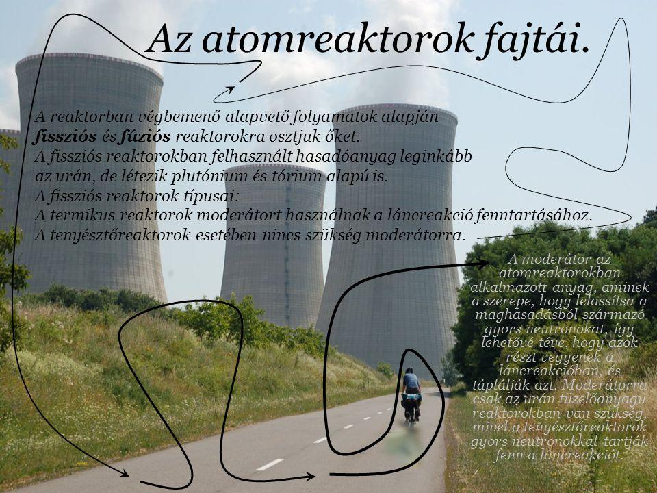 Az atomerőművek történelme dióhéjban Az első kísérleti reaktort 1942-ben építették meg Cichagóban az olasz Enrico Fermi vezetésével és a magyar szárma