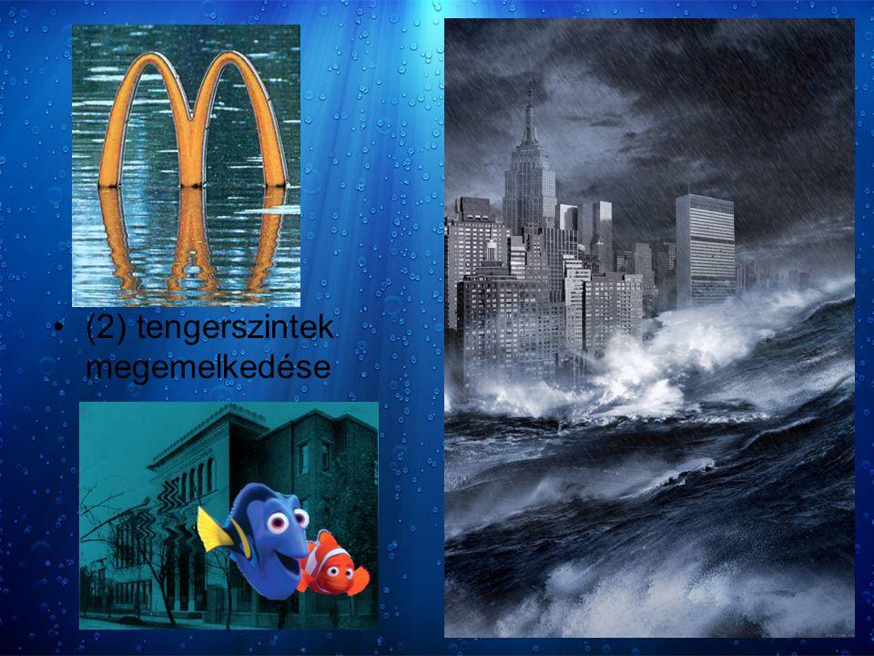 (2) tengerszintek megemelkedése