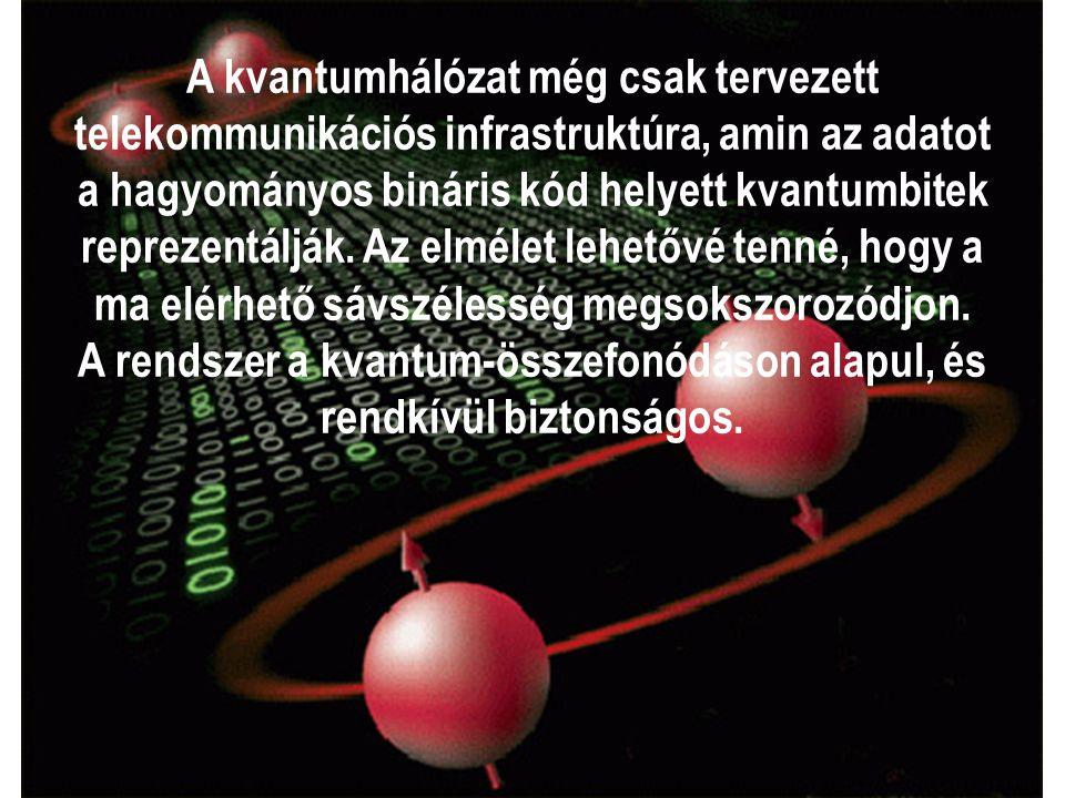 A kvantumhálózat még csak tervezett telekommunikációs infrastruktúra, amin az adatot a hagyományos bináris kód helyett kvantumbitek reprezentálják. Az