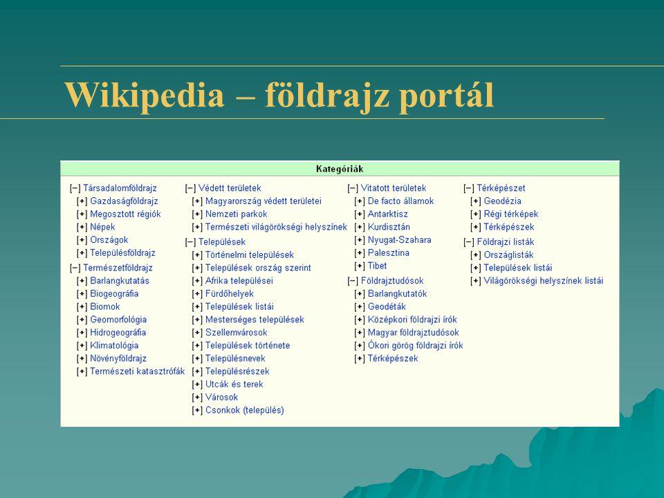 Wikipedia – földrajz portál