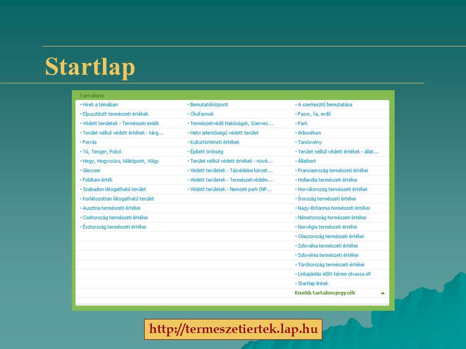 Startlap http://termeszetiertek.lap.hu