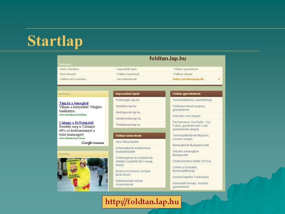 Startlap http://foldtan.lap.hu