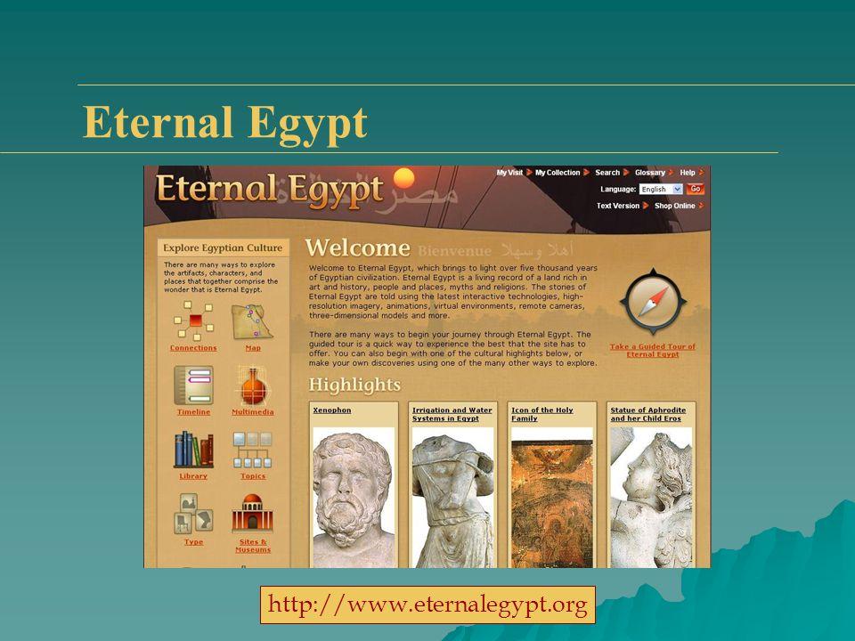 Eternal Egypt http://www.eternalegypt.org