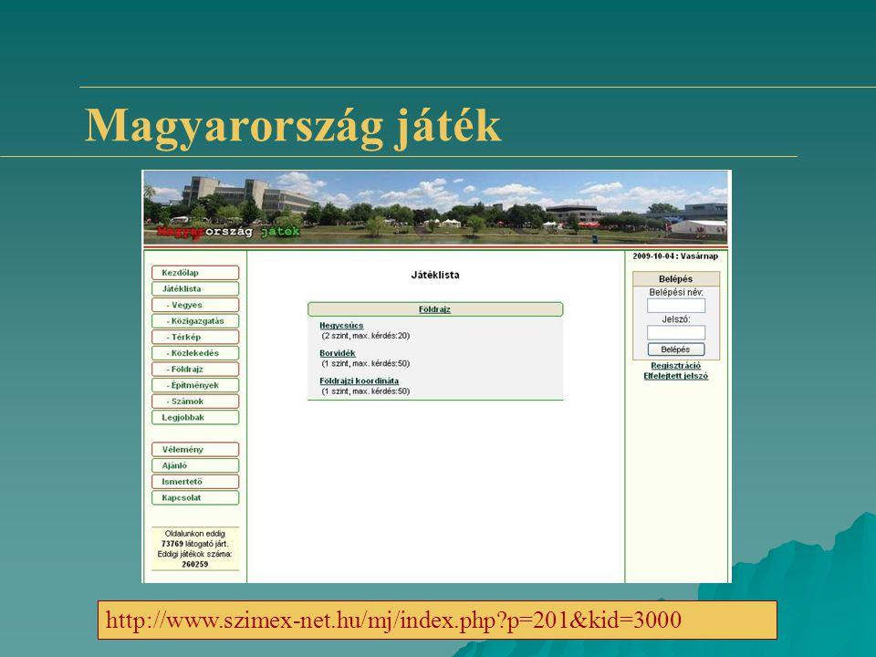 Magyarország játék http://www.szimex-net.hu/mj/index.php?p=201&kid=3000