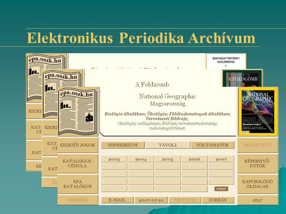 www.epa.oszk.hu Elektronikus Periodika Archívum