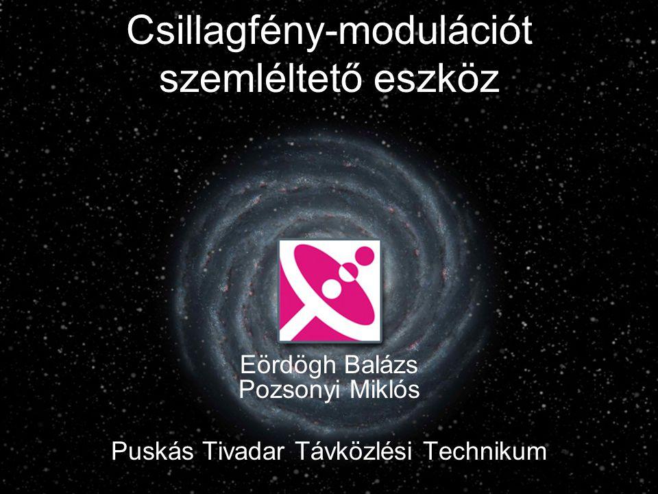 Csillagfény-modulációt szemléltető eszköz Eördögh Balázs Pozsonyi Miklós Puskás Tivadar Távközlési Technikum