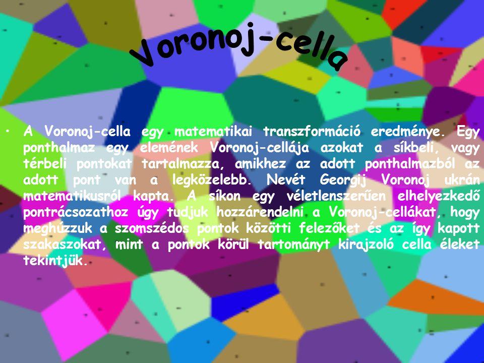 A Voronoj-cella egy matematikai transzformáció eredménye. Egy ponthalmaz egy elemének Voronoj-cellája azokat a síkbeli, vagy térbeli pontokat tartalma