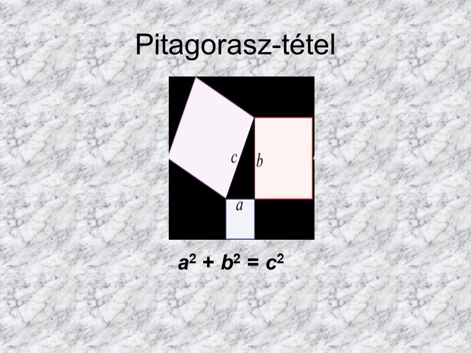 Pitagorasz-tétel a 2 + b 2 = c 2