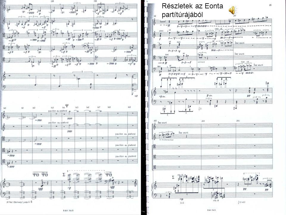 Ligeti György (1923-2006) A nemzetközi kortárs zene kiemelkedő egyénisége az európai hangrendszertől való elszakadás Mikropolifónia elmélete: nagyon sűrű szövésű imitációs zenei anyag Atmosphéres