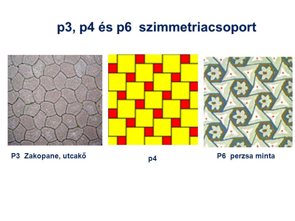 p3, p4 és p6 szimmetriacsoport P6 perzsa mintaP3 Zakopane, utcakő p4