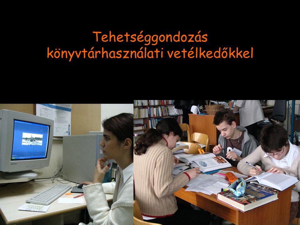 Tehetséggondozás könyvtárhasználati vetélkedőkkel
