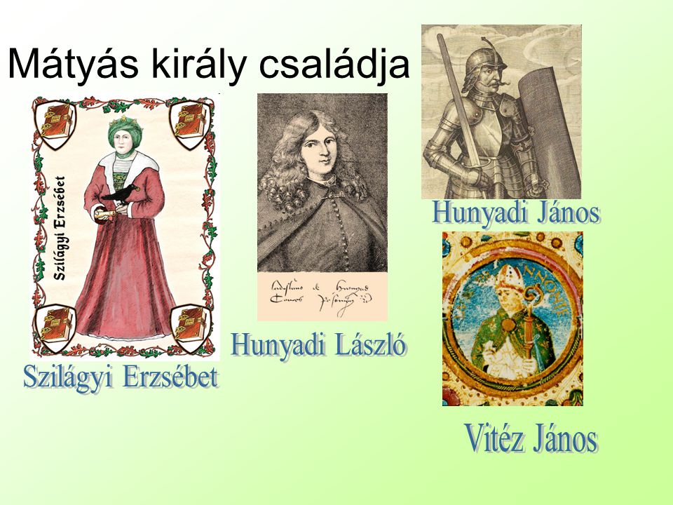 Mátyás király családja