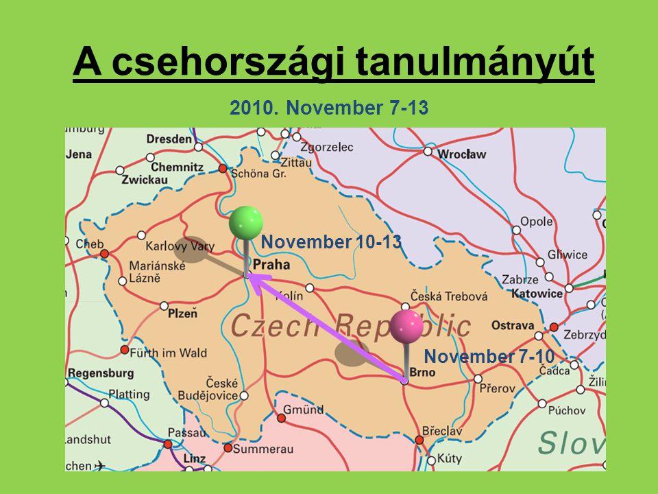 Szakmai program Brünn – 2010.november 7-10.